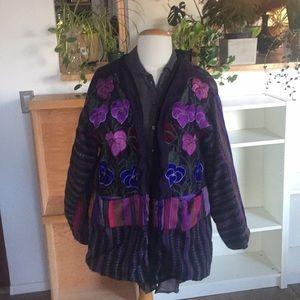 Jackets & Blazers - Boho embroidered jacket